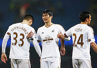 Ki Sung-Yueng of Swansea City during the Barclays Premier League match between Manchester City and Swansea City played at the Etihad Stadium, Manchester on December 12th 2015
