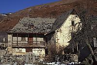 Europe/France/Midi-Pyrénées/65/Hautes-Pyrénées/Aucun: Détail vieille maison