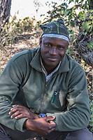 Africa, Botswana, Okavango Delta, Khwai Private Reserve. Our Khwai Lodge guide, Amos.
