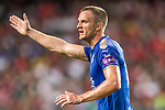 Leicester City FC midfielder Andy King reacts during the Premier League Asia Trophy match between Leicester City FC and West Bromwich Albion at Hong Kong Stadium on 19 July 2017, in Hong Kong, China. Photo by Yu Chun Christopher Wong / Power Sport Images