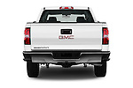 Straight rear view of 2018 GMC Sierra 1500 2WD Crew Cab Short Box 4 Door Pick-up Rear View  stock images