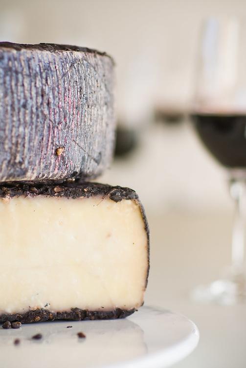 Wine encrusted Cheddar.