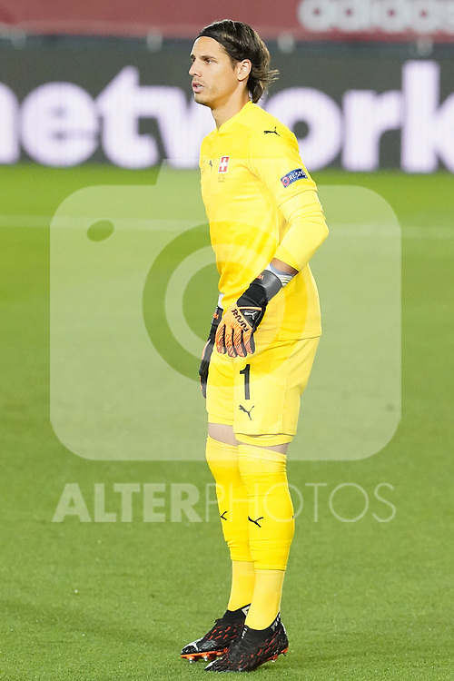 Switzerland's Yann Sommer during UEFA Nations League 2020 League Phase match. October 10,2020.(ALTERPHOTOS/Acero)