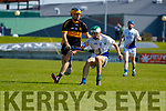 Chris Doncel, Dr. Crokes in action against Darragh Reen, Tralee Parnells during the Kerry County Intermediate Hurling Championship Final match between Dr Crokes and Tralee Parnell's at Austin Stack Park in Tralee