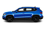 Car Driver side profile view of a 2022 Volkswagen Taos SEL 5 Door SUV Side View