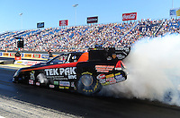 Jul, 8, 2011; Joliet, IL, USA: NHRA funny car driver Dale Creasy Jr during qualifying for the Route 66 Nationals at Route 66 Raceway. Mandatory Credit: Mark J. Rebilas-