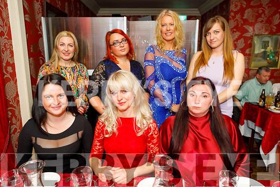 Saule Jubiene from Tralee celebrating her birthday in Cassidys on Saturday.<br /> Seated l to r: Dale Varanauskaite, Saule Jubiene and Natalia Kedzierska.<br /> Standing l to r: Olga Pituchoua, Jolita Milaseviciute, Maggie Morrjujly and Lijana Jusaite.