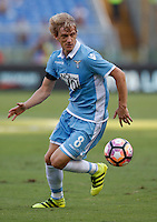 Calcio, Serie A: Lazio vs Juventus. Roma, stadio Olimpico, 27 agosto 2016.<br /> Lazio's Dusan Basta in action during the Serie A soccer match between Lazio and Juventus, at Rome's Olympic stadium, 27 August 2016. Juventus won 1-0.<br /> UPDATE IMAGES PRESS/Isabella Bonotto