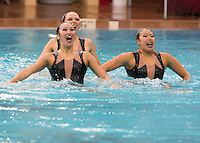 Stanford, CA - March 5, 2016.  Stanford Synchronized Swimming, Western Regional Championships, Avery Aquatic Center on the Campus of Stanford University.
