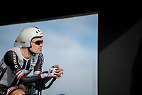 Tom Dumoulin (NED/Sunweb) waiting for the start in the start box<br /> <br /> Men's Team Time Trial<br /> <br /> UCI 2017 Road World Championships - Bergen/Norway