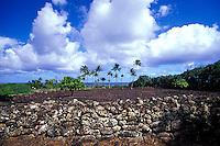 Poliahu heaiu (Hawaiian temple), Wailua, Kauai