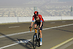 Wout Poels (NED) Bahrain Victorious on the final climb of Stage 3 of the 2021 UAE Tour running 166km from Al Ain to Jebel Hafeet, Abu Dhabi, UAE. 23rd February 2021.  <br /> Picture: Eoin Clarke | Cyclefile<br /> <br /> All photos usage must carry mandatory copyright credit (© Cyclefile | Eoin Clarke)