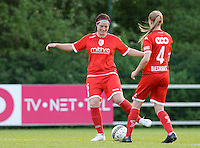 20160513 - LIEGE , BELGIUM : Standard's Cecile De Gernierpictured during a soccer match between the women teams of  Standard Femina De Liege and KAA Gent Ladies , during the fifth matchday in the SUPERLEAGUE Playoff 1 , Friday 13 May 2016 . PHOTO SPORTPIX.BE / DAVID CATRY