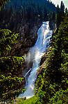 Oesterreich, Salzburger Land, Krimml, Krimmler Wasserfaelle - Der Obere Fall (140 m) | Austria, Salzburger Land, Krimml, Krimmler Waterfalls - The Upper Fall (140 m)