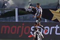 Santos (SP), 27.01.2020 - Santos-Botafogo - O jogador Pedro Raul comemora gol. Partida entre Santos e Botafogo valida pela 30. rodada do Campeonato Brasileiro neste domingo (27) no estadio da Vila Belmiro em Santos.