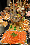 A table of holiday food at the M.D. Anderson benefit held honoring the Fourticqs at their apartment Thursday Dec. 13,2006.(Dave Rossman/For the Chronicle)<br />