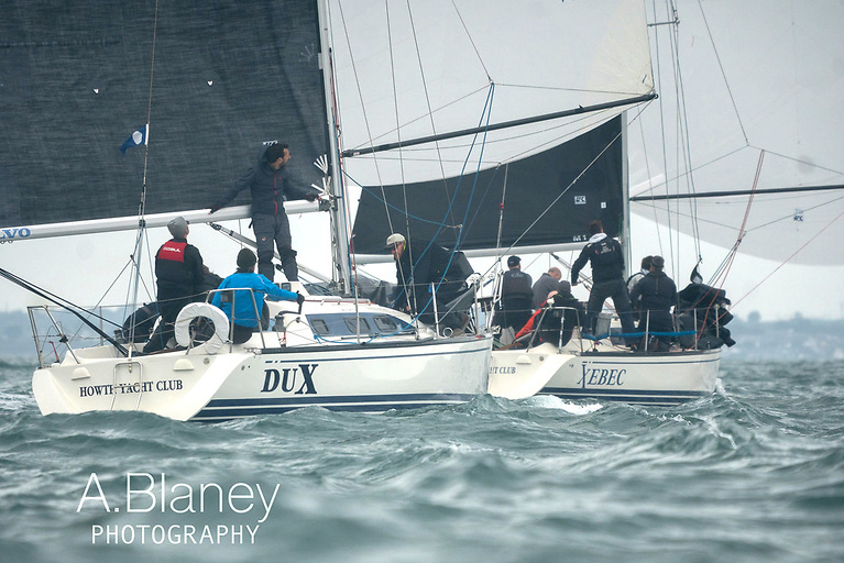 """""""X"""" marks every spot….Dux chasing Xebec in IRC2. Photo: Annraoi Blaney"""