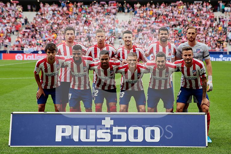 Team photo of Atletico de Madrid during La Liga match between Atletico de Madrid and SD Eibar at Wanda Metropolitano Stadium in Madrid, Spain.September 01, 2019. (ALTERPHOTOS/A. Perez Meca)