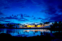 sunset at Anaeho'omalu Bay in front of the Waikoloa Beach Marriott Resort The Big Island of Hawaii, Pacific Ocean