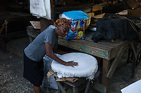 Port au Prince, Haiti, April 21, 2010.The area around the old 'Salomon' market is one of the poorest in the city and still mostly in ruins, 3 months after the earthquake.