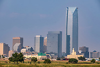 Oklahoma City Skyline, with Devon Tower, Tallest building in the state. Completed 2012.
