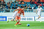 Jeju United Forward Ahn Hyunbeom in action during the AFC Champions League 2017 Group Stage - Group H match between Jeju United FC (KOR) vs Adelaide United (AUS) at the Jeju World Cup Stadium on 11 April 2017 in Jeju, South Korea. Photo by Marcio Rodrigo Machado / Power Sport Images