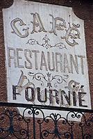 Europe/France/Midi-Pyrénées/81/Tarn/Réalmont: Détail enseigne d'un restaurant