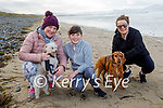 Elaine Bowler (Tralee), Ava Brown and Therese McQuinn enjoying a stroll in Banna beach on Sunday.