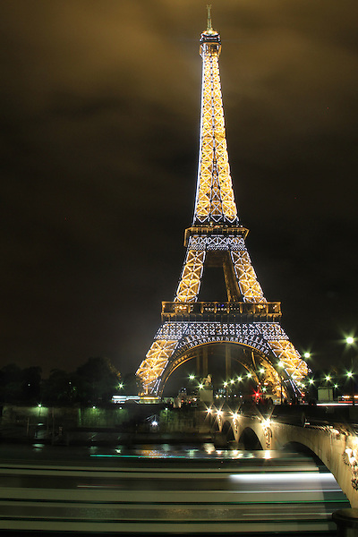 The Eiffel Tower or Tour Eiffel at night, Paris, France. .  John offers private photo tours in Denver, Boulder and throughout Colorado, USA.  Year-round. .  John offers private photo tours in Denver, Boulder and throughout Colorado. Year-round.