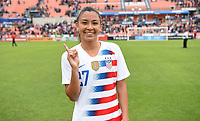 Houston, TX - Sunday April 8, 2018: Tegan McGrady during an International friendly match versus the women's National teams of the United States (USA) and Mexico (MEX) at BBVA Compass Stadium.