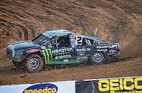 Dec. 11, 2011; Chandler, AZ, USA;  LOORRS pro 4 driver Johnny Greaves during the Lucas Oil Challenge Cup at Firebird International Raceway. Mandatory Credit: Mark J. Rebilas-