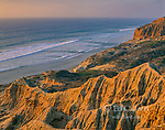 Sandstone Cliffs, Sunset, Torrey Pines State Beach and State Reserve, La Jolla, San Diego County, California