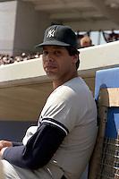 New York Yankees pitcher John Candelaria during spring training circa 1989.  (MJA/Four Seam Images)