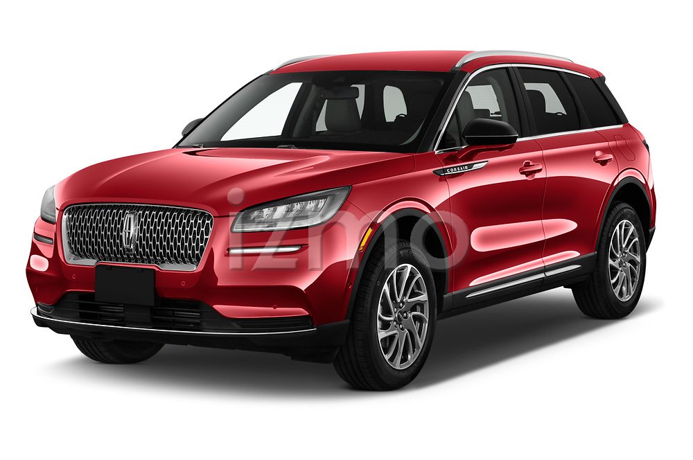 2021 Lincoln Corsair - 5 Door SUV Angular Front automotive stock photos of front three quarter view