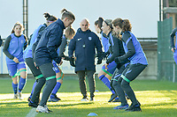 Genk's defender Aline Zeler (L) pictured during the warming up of a female soccer game between Eendracht Aalst and Racing Genk on the fifth matchday of the 2020 - 2021 season of Belgian Scooore Womens Super League , Saturday 28 th of November 2020  in Aalst , Belgium . PHOTO SPORTPIX.BE | SPP | DIRK VUYLSTEKE