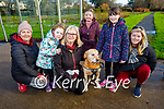 Denise Long, Sive McDonnell, Ann Sheehan, Jake the dog, Aoibhinn Duncan, Bridget and Aida Long enjoying a stroll in the town park in Tralee on New Years Eve.