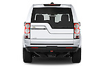 Straight rear view of a 2014 Land Rover LR4 Base 5 Door SUV Rear View  stock images