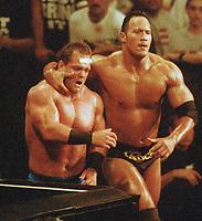 The Rock Chris  Benoit 1997                                                        Photo By John Barrett/PHOTOlink
