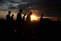 EL DIAMANTE -LLANOS DEL YARI-COLOMBIA , 17-09-2016. Formación de  guerrilleros de las FARC que asisten al  Decima Conferencia de las Farc  . / FARC members attending the Tenth Conference of the FARC  Photo:VizzorImage / Iván Valencia  / Contribuidor