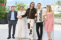 CANNES, FRANCE. July 12, 2021: Tim Roth, Vicky Krieps, Hampus Nordenson, Anders Danielsen Lie & Mia Hansen-Love at the photocall for Bergman Island at the 74th Festival de Cannes.<br /> Picture: Paul Smith / Featureflash