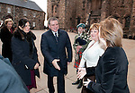 Fiona Hyslop, Cabient Secretary for Culture and External Affairs greets His Excellency Mr.Hatem Seif El Nasr + Mrs Nevine Seif El Nasr (wife)  (Embassy of The Arab Republic of Egypt) on their arrival at Edinburgh Castle for a reception and dinner hosted by Alex Salmond First Minister of Scotland..Pic Kenny Smith, Kenny Smith Photography.6 Bluebell Grove, Kelty, Fife, KY4 0GX .Tel 07809 450119,