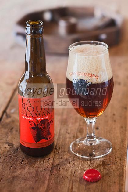 Europe/France/Nord-Pas-de-Calais/59/Nord/ Esquelbecq:  La Rouge Flamande - Bière  de Daniel Thiriez à l'estaminet de la brasserie artisanale