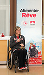Sochi, RUSSIA - Mar 9 2014 -  Sonja Gaudet receives the James Worrall Flag Bearer Award at the Petro-Canada Sochi 2014 Family & Friends reception at Canada Paralympic House at the 2014 Paralympic Winter Games in Sochi, Russia.  (Photo: Matthew Murnaghan/Canadian Paralympic Committee)