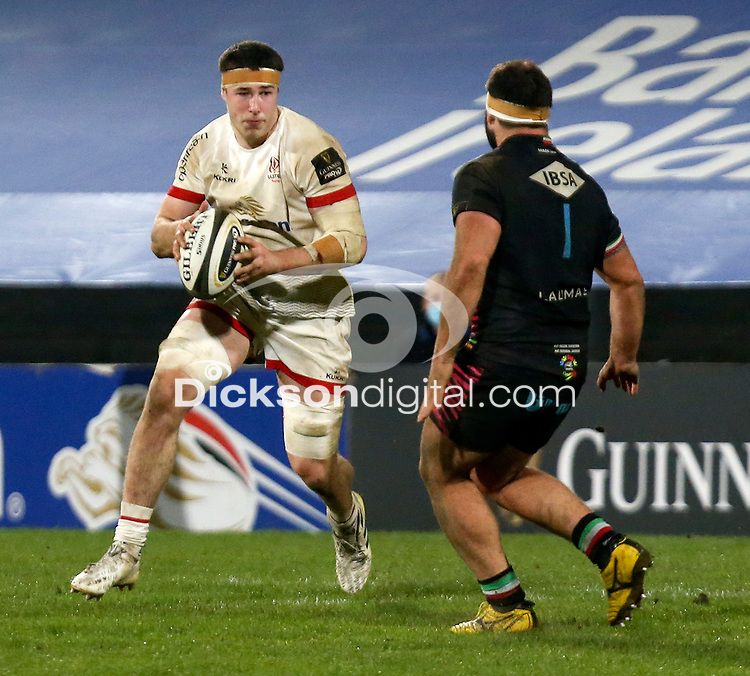 19th March 2021;  David McCann during the final round of the Guinness PRO14 against Zebre Rugby held at Kingspan Stadium, Ravenhill Park, Belfast, Northern Ireland. Photo by John Dickson/Dicksondigital