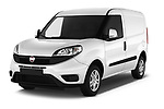 2016 Fiat Doblo Pack 4 Door Cargo Van angular front stock photos of front three quarter view