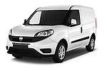 2016 Fiat Doblo Pack 4 Door Cargo Van angular front stock photos of front three quarter view