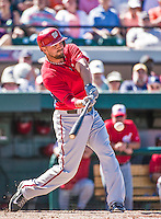 14 March 2014: Washington Nationals first baseman Brock Peterson at bat during a Spring Training game against the Detroit Tigers at Joker Marchant Stadium in Lakeland, Florida. The Tigers defeated the Nationals 12-6 in Grapefruit League play. Mandatory Credit: Ed Wolfstein Photo *** RAW (NEF) Image File Available ***