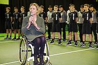 Rotterdam, The Netherlands, February 13, 2016,  ABNAMROWTT, Esther Vergeer (NED)<br /> Photo: Tennisimages/Henk Koster