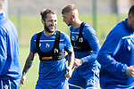 St Johnstone Training….13.09.19     McDiarmid Park, Perth<br />Stevie May and Liam Gordon pictured during training this morning ahead of tomorrows game at Aberdeen<br />Picture by Graeme Hart.<br />Copyright Perthshire Picture Agency<br />Tel: 01738 623350  Mobile: 07990 594431