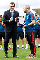 The President of the Government of Spain Pedro Sanchez (l) gives Andres Iniesta the Medal of Merit for Sports. June 5,2018.(ALTERPHOTOS/Acero) /NortePhoto.com NORTEPHOTOMEXICO